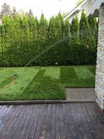 namakanje trave, položena travna ruša